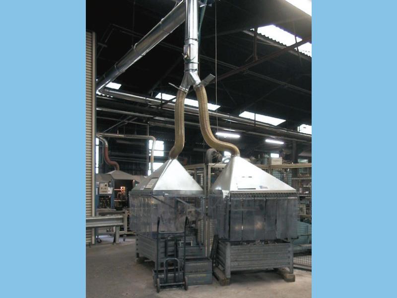Hotte d'extracteur de fumée industriel